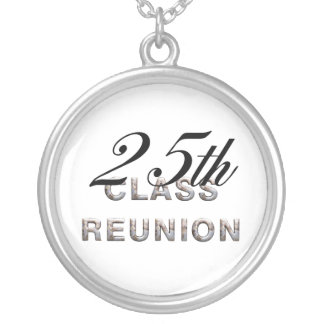 TEE 25th Class Reunion Silver Plated Necklace
