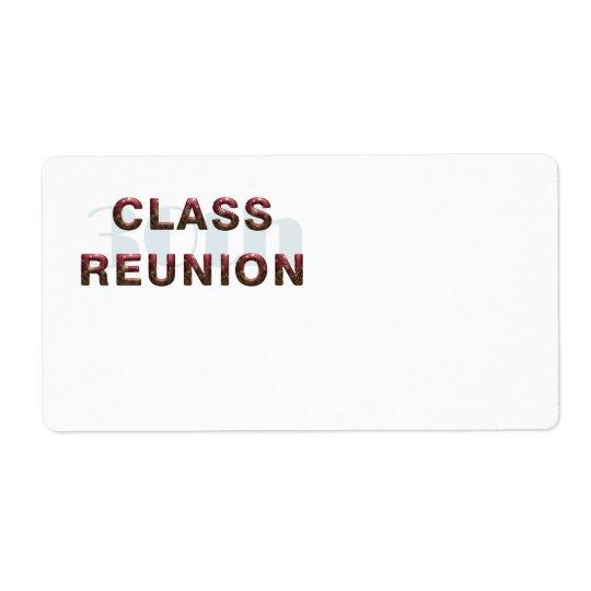 TEE 30th Class Reunion Label