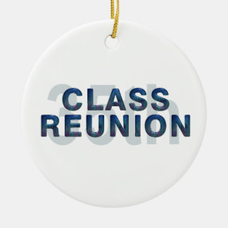 TEE 35th Class Reunion Double-Sided Ceramic Round Christmas Ornament