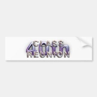 TEE 40th Class Reunion Bumper Sticker