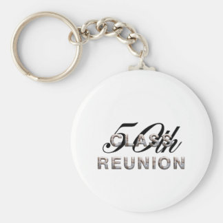 TEE 50th Class Reunion Basic Round Button Keychain