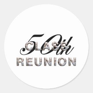 TEE 50th Class Reunion Classic Round Sticker