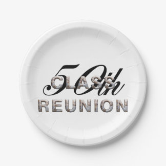 TEE 50th Class Reunion Paper Plate