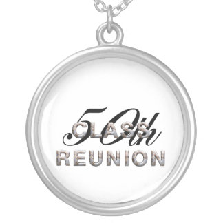 TEE 50th Class Reunion Round Pendant Necklace