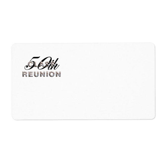 TEE 50th Class Reunion Shipping Label