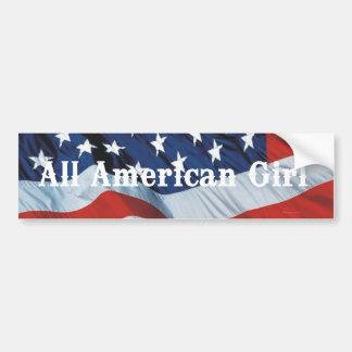 TEE All American Girl Car Bumper Sticker