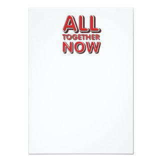 TEE All Together Now 5x7 Paper Invitation Card