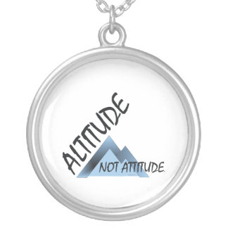 TEE Altitude, Not Attitude Silver Plated Necklace