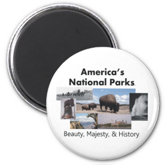 TEE America's National Parks 2 Inch Round Magnet