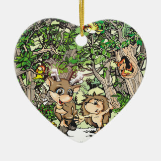 Tee and Heddie Heart Ornament