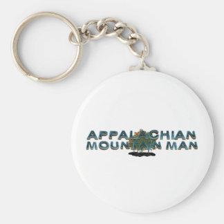 TEE Appalachian Mountain Man Basic Round Button Keychain