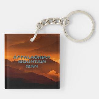 TEE Appalachian Mountain Man Double-Sided Square Acrylic Keychain