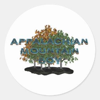 TEE Appalachian Mountain Man Round Sticker