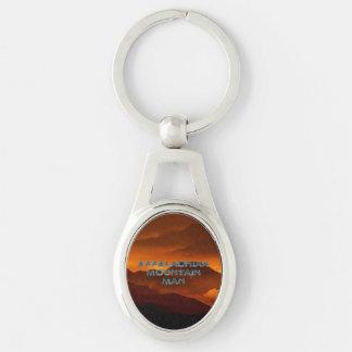 TEE Appalachian Mountain Man Silver-Colored Oval Metal Keychain