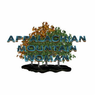 TEE Appalachian Mountain Woman Standing Photo Sculpture