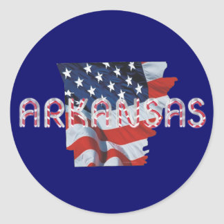 TEE Arkansas Patriot Classic Round Sticker