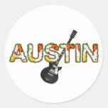 TEE Austin Classic Round Sticker