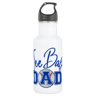 Tee Ball Dad Stainless Steel Water Bottle