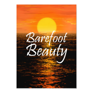 TEE Barefoot Beauty Magnetic Invitations