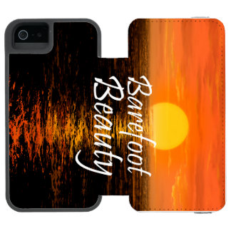 TEE Barefoot Beauty Wallet Case For iPhone SE/5/5s