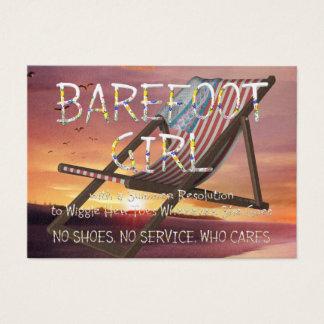 TEE Barefoot Girl Business Card