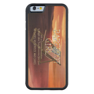 TEE Barefoot Girl Carved Maple iPhone 6 Bumper Case