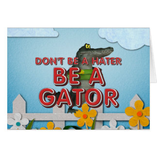 TEE Be Alligator Card