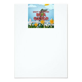TEE Be Alligator 5x7 Paper Invitation Card