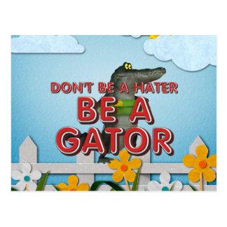 TEE Be Alligator Postcard