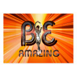 TEE Be Amazing Skater Business Card