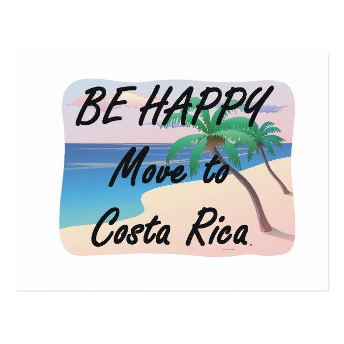 TEE Be Happy Costa Rica Postcard
