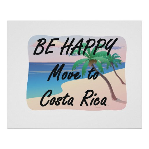 TEE Be Happy Costa Rica Poster