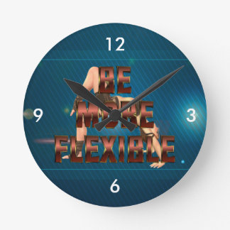 TEE Be More Flexible Wall Clock
