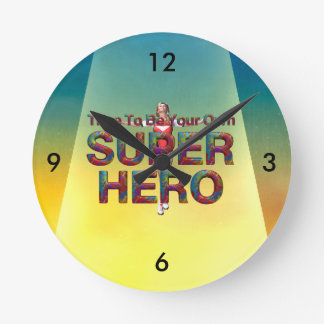 TEE Be Own Superhero Round Clock