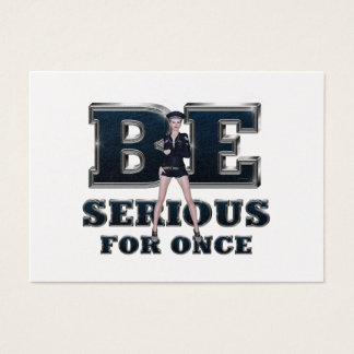TEE Be Serious Business Card