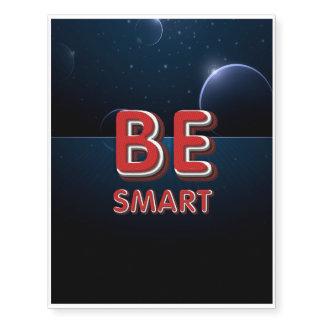 TEE Be Smart Temporary Tattoos