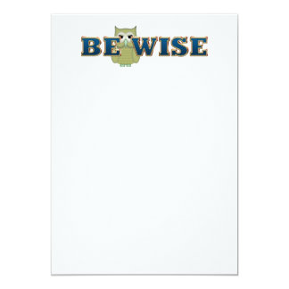 TEE Be Wise 5x7 Paper Invitation Card