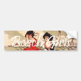 TEE Beach Girl Slogan Bumper Sticker