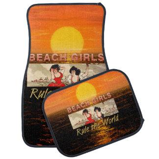 TEE Beach Girls Rule Car Mat