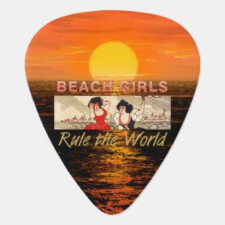 TEE Beach Girls Rule Guitar Pick