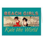 TEE Beach Girls Rule the World Greeting Card