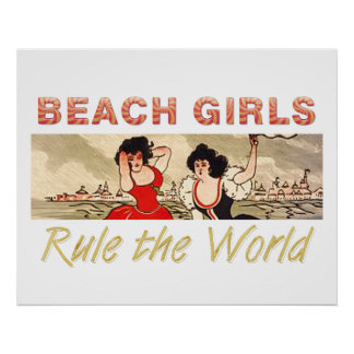 TEE Beach Girls Rule the World Poster