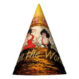 TEE Beach Girls Rule World Party Hat