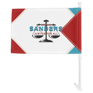 TEE Bernie Sanders for President Car Flag