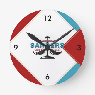 TEE Bernie Sanders for President Round Wall Clocks