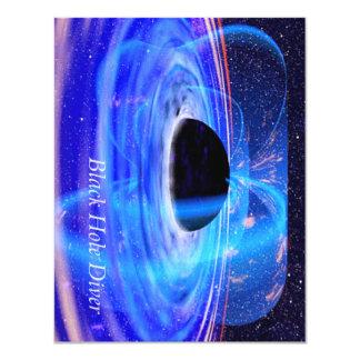 TEE Black Hole Diver 4.25x5.5 Paper Invitation Card
