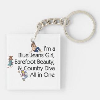 TEE Blue Jeans Girl Keychain