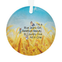 TEE Blue Jeans Girl Ornament