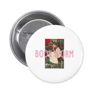 TEE Book Worm Pinback Button