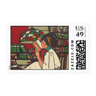 TEE Book Worm Postage Stamp